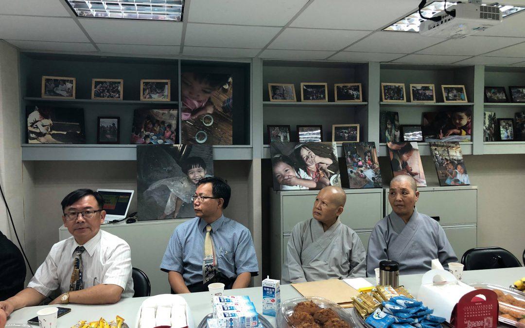 中華人權協會理事長林天財律師在世界難民日感恩茶會致詞